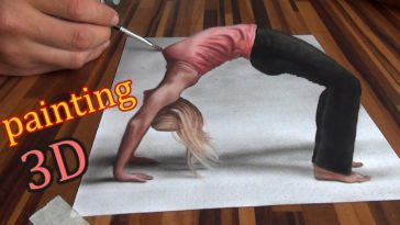 3D Drawing of an optical illusion Speed Painting