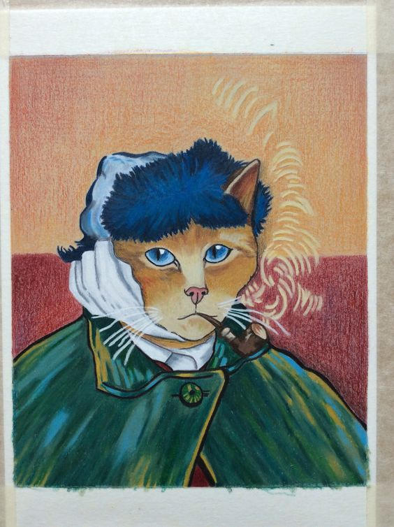 Kitty Van Gogh with Luminance pencils on Canson 1557 paper