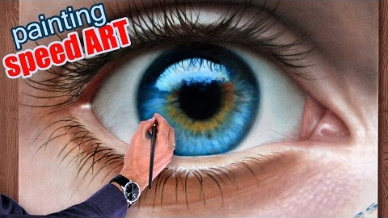 How To Draw A Realistic Eye Painting With Speed Drawing Pencils Sketches