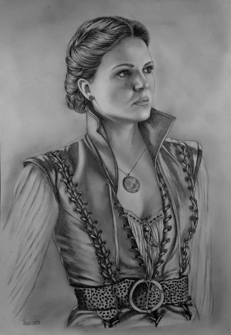 Lana Parrilla (Regina Mills) in pencils