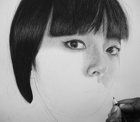 Step by step progressing photo realistic sketch-02