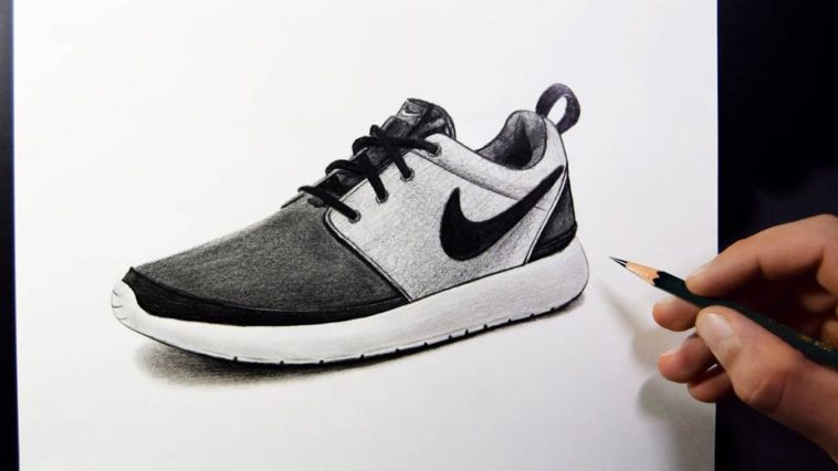 How to Draw a Nike Shoe with Pencil